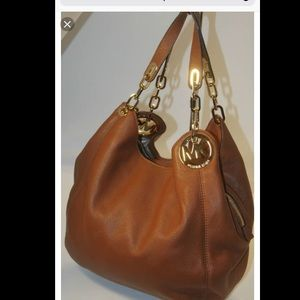 Michael kors Fulton tan purse. Perfect condition